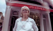 Jo Malone outside her shop Jo Loves
