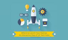 Interactive Map of UK Startup Tech Hubs